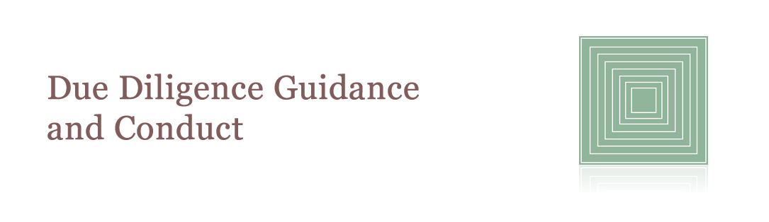 Due Diligence Guidance and Conduct